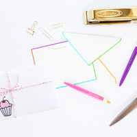 Cupcake Envelopes - Illustrated and Printed Stationery by Yellow Daisy Paper Co.