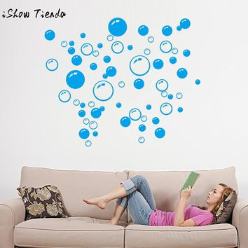 Bubbles Circle Removable Wall Wallpaper Bathroom Window Sticker Decal Home DIY Blue Black Hot Pink wall stickers