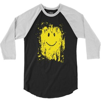 mud smiley face 3/4 Sleeve Shirt