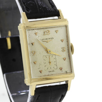 Vintage Longines 14k Yellow Gold Manual Wind Sub Second Watch 930723