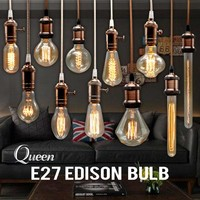 Edison Bulb Incandescent Lamp E27 220v Wedding Vintage Lamp Pendant Light Retro Lighting Ceiling lampadas Carbon Filament Bulb