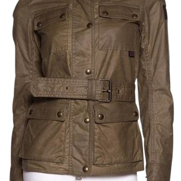 Belstaff Army Green 'roadmaster 2.0' Waxed Canvas Jacket 55% off retail