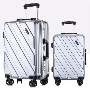 New Suitcase Ultra Light Suitcase Wheel 360 Degree Rotating Suitcases PC Waterproof Fashion Travel Zipper Box