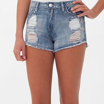 Tinseltown Embroidered High Rise Short