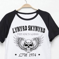 Lynyrd skynyrd free as a bird digital printing vintage fashion men women t shirt good quality