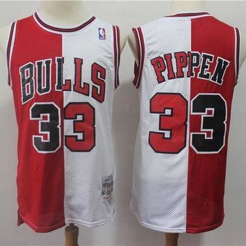 PEAP Chicago Bulls 33 Scottie Pippen Doubel Color Spell Swingman Jersey