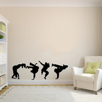 Guys Dancing Break Dance Silhouette Wall Vinyl Decal Stylish Sticker Housewares Art Design Murals Interior Decor Dance Studio SV4529
