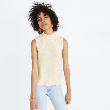 Stitch-Mix Mockneck Sweater Tank : shopmadewell sleeveless & short sleeve | Madewell