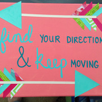 Find Your Direction 8x10 Canvas