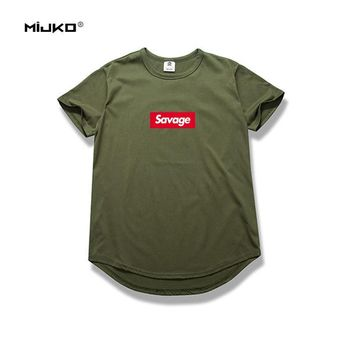 MIJKO Brand Mens Fashion 21 Savage T Shirt Parody No Heart X Savage 1:1 Letter Print T