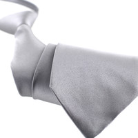 Tok Tok Designs Boy's Pre-tied Necktie: 12 Years or Up (N20, Silver)