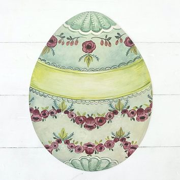 Die-Cut Easter Egg Placemat
