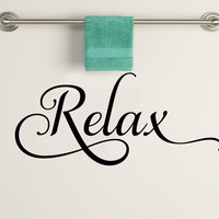 Relax Bathroom Vinyl Wall Decal Sticker Art