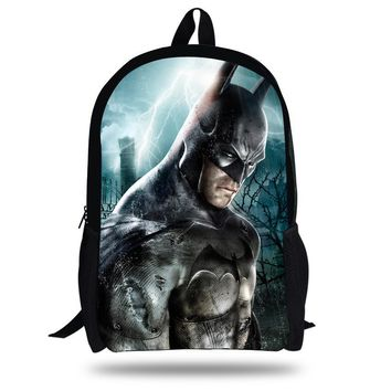 16-inch Mochila Batman Bag Hero Backpack Kids Boys Age 7-13 Cool Bataman Backpack Children School Bags For Teenagers