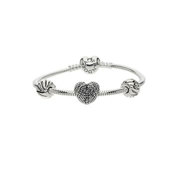 Pandora Silver Heart Phoenix Bundle Bracelet B800211 | The Jewel Hut
