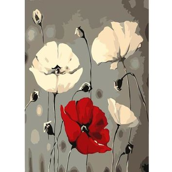 BAISITE Frameless DIY Oil Painting Pictures By Numbers On Canvas Wall Pictures Wall Art For Living Room Home Decoration c104