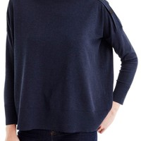 J.Crew Button Boatneck Sweater | Nordstrom