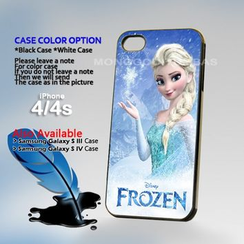 Disney frozen elsa, Photo On Hard Plastic iPhone 4 4S Case
