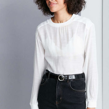 Silence + Noise Reyes Textured Pullover Blouse - Urban Outfitters
