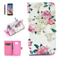 S6 Case, Galaxy S6 Case, GoodPro™ Popular Fashion [Color Painting Design - Series 5] (Pattern B), Premium PU Leather Wallet Case Flip Cover with Stand for Samsung Galaxy S6, Included (Screen Protector, Stylus and Cleaning Cloth), Samsung Galaxy S6 Case