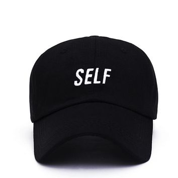 Bryson Tiller SELF Black Embroidered Cotton Dad Hat