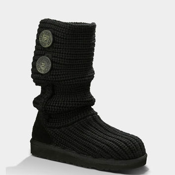 Ugg Classic Cardy Girls Boots Black  In Sizes