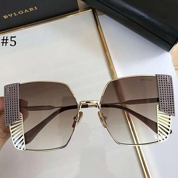 Bvlgari 2018 new fashion big frame heavy craft metal sunglasses #5