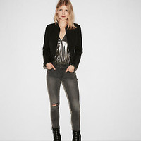 Who What Wear Pick (Minus The) Leather Double Peplum Jacket