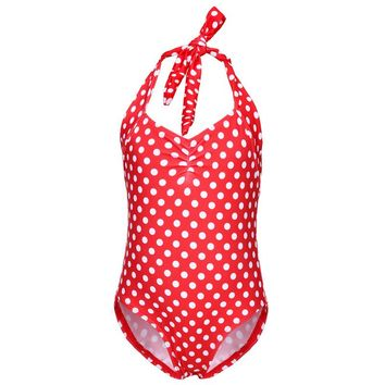 Lovely Dot Quality swimsuits for girls one piece Swimsuit childrens swimwear child bathing suits girl swim wear 3-8 age