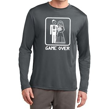 Buy Cool Shirts Game Over Competitor Long Sleeve White Print