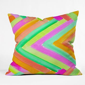 Rebecca Allen Summer Stays Throw Pillow