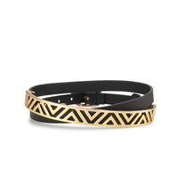 Ally Double Wrap Bracelet - Black