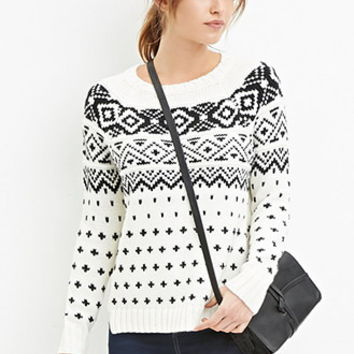 Geo-Patterned Sweater