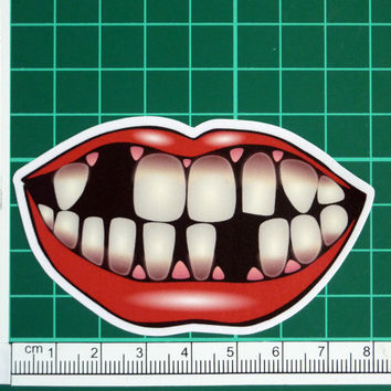 Missing Teeth Smile Sticker Decal