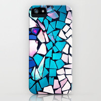 Turquoise and blue mosaic iPhone Case by Sylvia Cook Photography | Society6