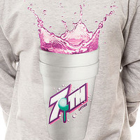 7th Letter Crewneck Double Cup in Heather Grey