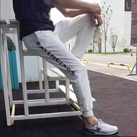 """Balenciaga"" Women Men Fashion Letter Print Pants"
