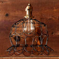 Egg Basket Wire Pendant