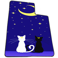 Sailor Moon Luna Cats d108eb8a-a5a4-4a00-b707-d5cc109f19c8  for Kids Blanket, Fleece Blanket Cute and Awesome Blanket for your bedding, Blanket fleece *AD*