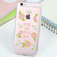 Cute Orange Cover Case for iPhone 5s 5se 6 6s Plus Gift 318