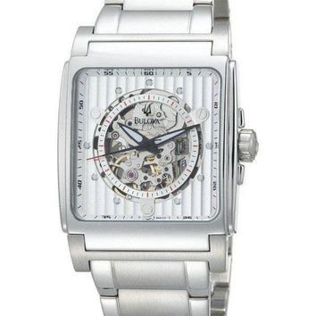 Bulova Automatic White Dial 96A107 Mens Watch
