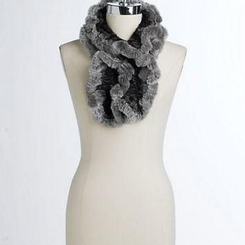 Linda Richards Ruffled Fur Scarf