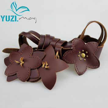 Spring New Vintage Women Leather Belt Genuine Cow skin Handmade Knitted Classic Belts