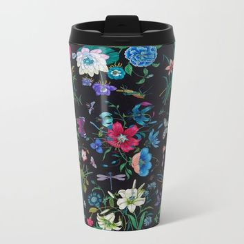 WILD FLOWERS Metal Travel Mug by Salome