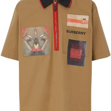 Montage Zip Collar Short Sleeve by Burberry