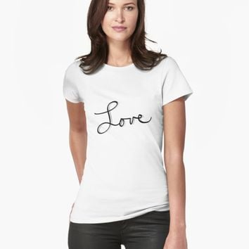 "'""Love"" hand drawn typography' T-Shirt by BillOwenArt"