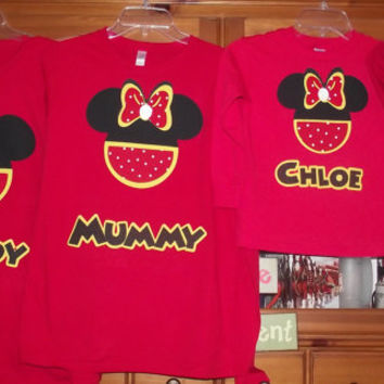 Red Yellow Black Mickey Minnie Mouse From Creations By
