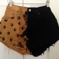 Yin yang highwaisted shorts by FemmesCouture on Etsy