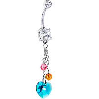 Handcrafted Lovely Hearts Crystal Belly Ring | Body Candy Body Jewelry