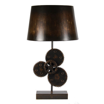 Industrial Gears Metal Lamp